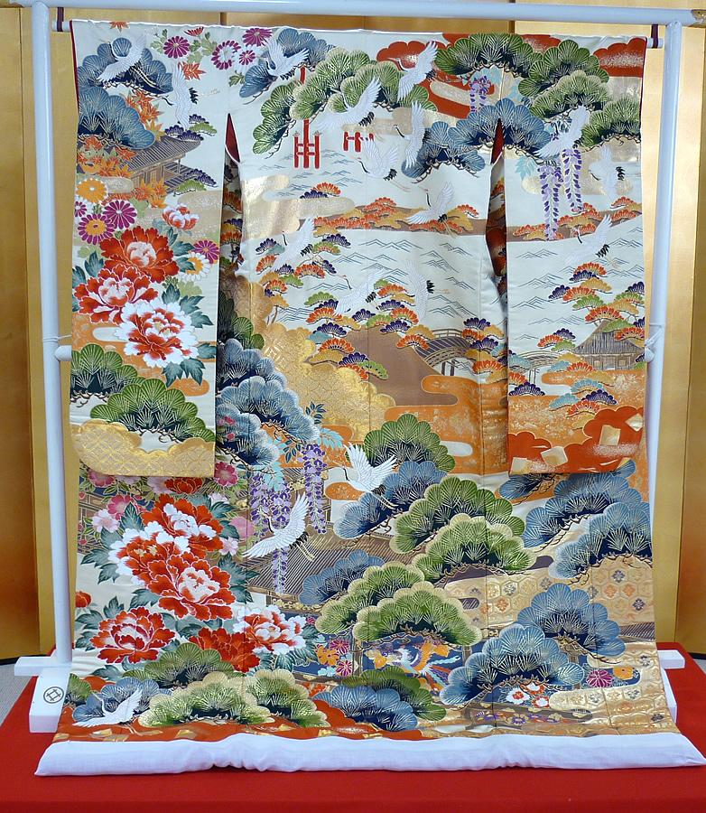 プレミアム打掛「日本三景図」