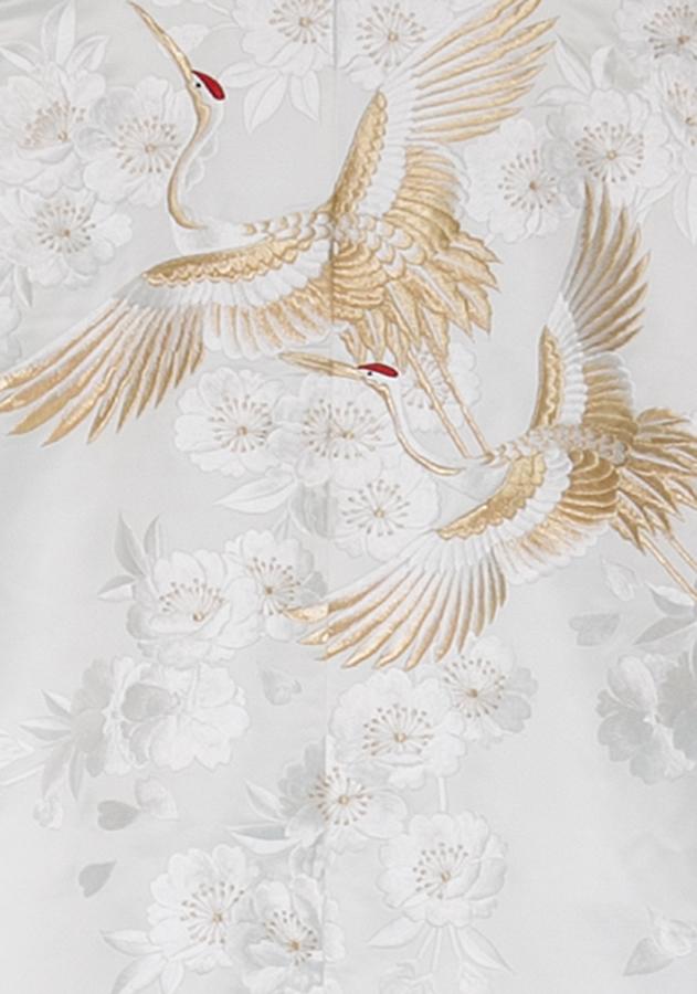富岡製糸場記念白無垢「飛翔天鶴」